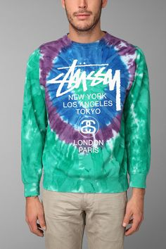 Stussy Tie-Dye Pullover Sweatshirt  I'm loving this tie dye shit right now. Just don't over kill. Good patterns only/ colors only.