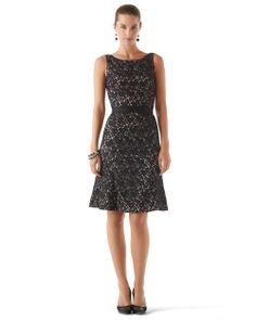 White House   Black Market Fit & Flare Lace Dress