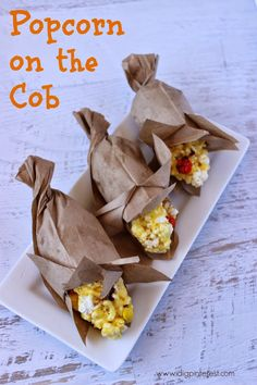 I Dig Pinterest: Popcorn and Candy on the Cob Fall Treat