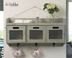 Shabby Chic hylle med skuffer fra dr.Lykke Buffet, Shabby Chic, Cabinet, Storage, Interior, Kitchen, Furniture, Home Decor, Clothes Stand
