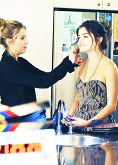 New/Old Behind The Scenes photo of Lucy Hale and Ashley Benson