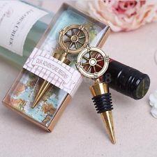 Vtg Nautical Compass Wine Bottle Stopper Summer Beach Bridal Wedding Favor