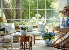 A696F58B-DBA5-487A-B82F-FAEF771A6A93 Cafe Design, Interior Design, Breath Of Fresh Air, Garden Care, White Rooms, White Houses, Classic House, Traditional House, Outdoor Living