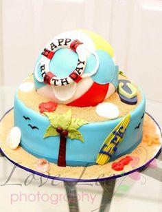 Beach Ball Cake - by CakesbyKimNC @ CakesDecor.com - cake decorating website