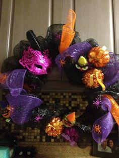 Halloween Mesh Glitter wreath Door Decoration on Etsy, $25.00