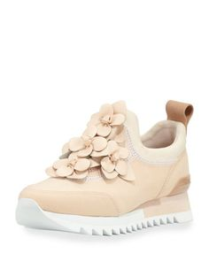 Blossom+Neoprene+Sneaker,+Blush+by+Tory+Burch+at+Neiman+Marcus.