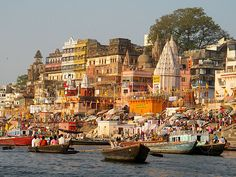 varanasi india | Boating down the Ganges in Varanasi, India (photo via bugbog.com)