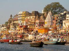 River Ganges and Varanasi (one of India's holiest cities), Uttar Pradesh state, north India