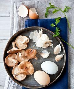 Saturday Scrambled Eggs With Parsley & Garlic Mushrooms