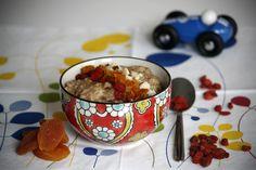 Healthy breakfast ideas | Spelt porridge with apricots & nuts | Children's breakfast ideas