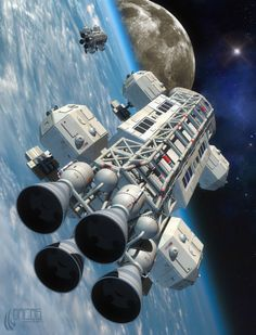 Space: 1999 Eagle Transporter - Another Shattered Dream by Arcas-Art.deviantart.com on @deviantART