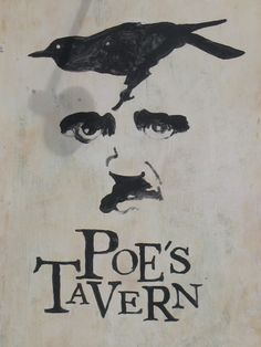 Poe's Tavern on Sullivan's Island - one of my favorite haunts in the Charleston area. Edgar Allan Poe, Quoth The Raven, Allen Poe, Robert Frost, American Literature, Cuervo, Romanticism, Poetry Quotes, Short Stories