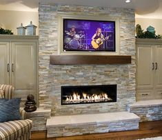 Love this fireplace/TV Combo