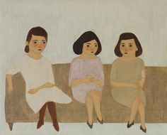 Kate Pugsley paintings sisters