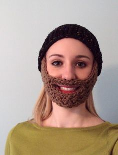 Crochet Beard Pattern | Crochet or Knit ~ Hats! / Free Crochet Beard Hat Pattern