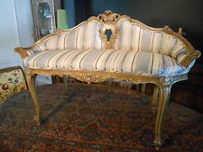 Antique French Louis 15th Style Settee, LoveSeat,Sofa, Bench~~ Hand Carved