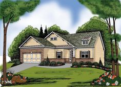 Elevation of Ranch   House Plan 72553