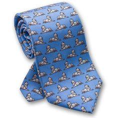 Josh Bach Lions Hand Finished Silk Necktie