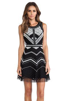 Parker Verda Dress in Black White