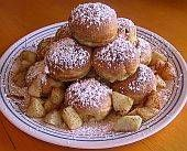 """Basic Danish Pancake Balls (Aebleskiver) Recipe:  One of Denmark's most famous types of pastry, Aebleskiver (in Danish, """"Apple Slices"""") are light, melt-in-your-mouth pancake balls that taste like a cross between a pancake and a donut. Once you master the knack of using an aebleskiver pan, you may never buy fat-filled commercial donuts again!"""