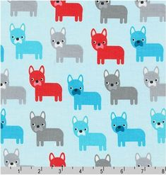 Fabric Fish Primary on Royal Blue Cotton by the 1//4 yard BIN