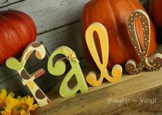 Fall - Ohhhh I like this for my mantel!