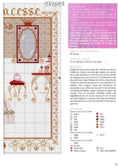 chambre de princess cross stitch patterna nd color chart Gallery.ru / Фото #29 - 422 - Yra3raza