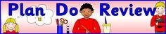 Plan Do Review display banner (SB6495) - SparkleBox