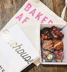 Holmes Bakehouse is finally opening in Orange County at the Union Market Tustin. Dessert Packaging, Bakery Packaging, Vegan Take Out, Mr Holmes Bakehouse, Union Market, Bakery Logo, Cafe Food, Scones, Breads