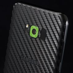 Samsung Galaxy S8 Plus - Black Carbon and Green Carbon Skins