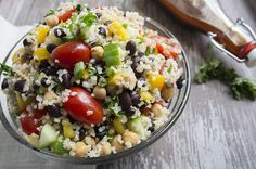 healthy bean and bulgur salad -- looks super tasty and would be great for lunches during the week!