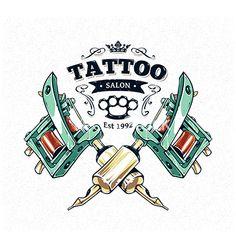 Tattoo machine gun print vector by morys on VectorStock®