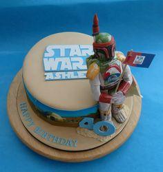 Star Wars with Boba  Fett Cake