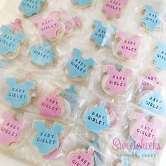 Baby shower personalised cookies melbourne sydney brisbane mini baby shower cookies personalised with baby surname letters stamped into the icing negle Choice Image