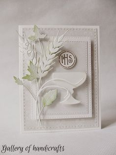 Gallery of handicrafts: komunia First Communion Cards, Première Communion, First Holy Communion, Confirmation Cards, Christian Cards, Communion Invitations, Quilling Craft, Fall Cards, Flower Cards