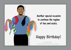 African american male birthday card f birthday greetings happy birthday card for men shows an handsome african american black man wearing a bookmarktalkfo Images