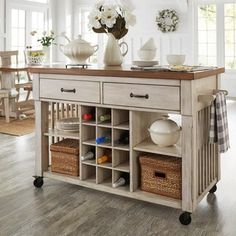 Rolling Kitchen Island real simple® rolling kitchen island in white $300 bed bath