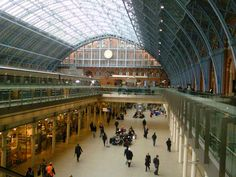 St Pancras station London - took the Eurostar to Brussels from here May 2014