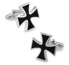 Product Description:  * Stylish Enamel Black Cross - Perfect Gift  * Brand new high quality  * Size: 1.9cm x 1.9cm  * Design & color as seen in photo.