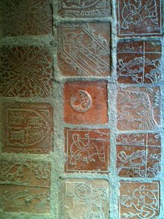 Pavers in the museum at Carcassonne Antique Tiles, Vintage Tile, Clay Tiles, Alcohol Ink Art, Medieval Art, Tile Art, Middle Ages, Floors, Steampunk