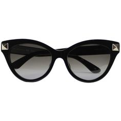 VALENTINO GARAVANI Rockstud sunglasses (520 CAD) ❤ liked on Polyvore featuring accessories, eyewear, sunglasses, glasses, óculos, black, valentino glasses, black glasses, valentino sunglasses and valentino eyewear