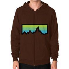 Abstract Mountain Light Invert Zip Hoodie (on man) Shirt