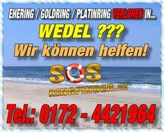 Ehering / Goldring / Platinring und sonstigen Schmuck in Wedel am Elbstrand verloren? Wir helfen Ihnen...Fragen Sie uns einfach danach unter Telefon: 0172 - 442 1964
