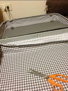 How to reline a hard shell suitcase!  In case I ever start finding affordable old suitcases.