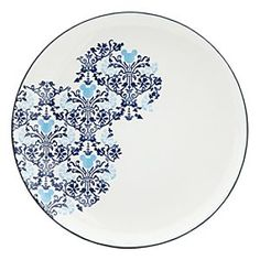 Disney Mickey Mouse Icon Indigo Plate | Disney StoreMickey Mouse Icon Indigo Plate - The Mouse moves uptown with an elegant indigo filigree dinnerware pattern detailed with hidden Mickey icons, just for the fun of it! Match this fine ceramic dinner plate with the entire collection, each item sold separately.