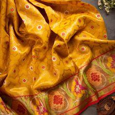 Raw Silk Saree, Chanderi Silk Saree, Silk Sarees, Sarees Online, Hand Weaving, Pure Products, Hand Knitting, Weaving