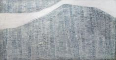 Avalanche, painting from the the series mountain names, by Karine Léger (48 x 96 inches)