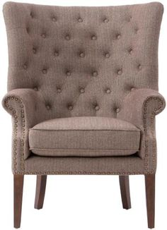 $399 Herringbone black-- Ernest Accent Chair - Tufted Chair - Upholstered Chairs - Armchair | HomeDecorators.com