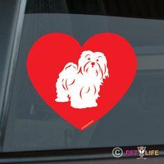 Love Havanese Heart Die Cut Vinyl Sticker  353 by MisterPetLife