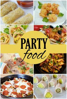Party Food Recipes featured on Simply Designing